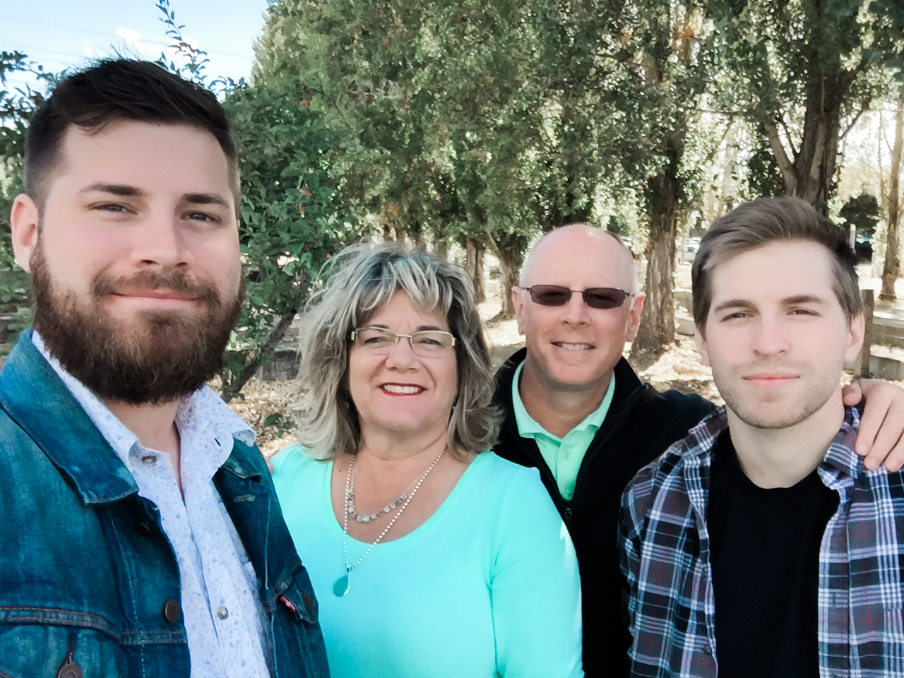 Our last family photo taken in Napa for my birthday.