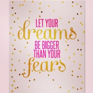 This is so true, we have dreams but we don't always allow them to happen because we are fearful of failure, of people's opinions, or starting something new!  If you believe in something enough it will come true, so let your dreams be bigger than you fears!  #fears #dreams #success #failure #letithappen #dreambig #yourthoughtscreateyourreality #womeninbusinsss #quotes #pinkquotes #quotestoliveby #quoteoftheday #inspiringquotes #creativewomen #creativebusiness #startup #workfromhome #workfromhomemum #inspiringcreativewomen