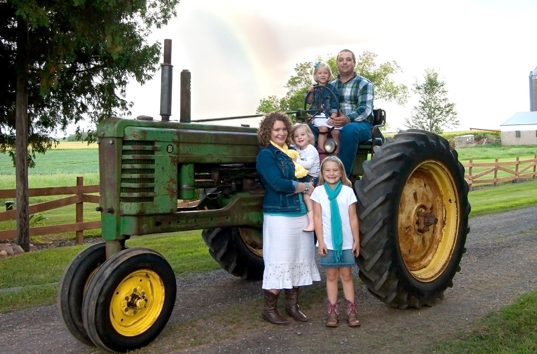 CG volunteer Bekah G. and family