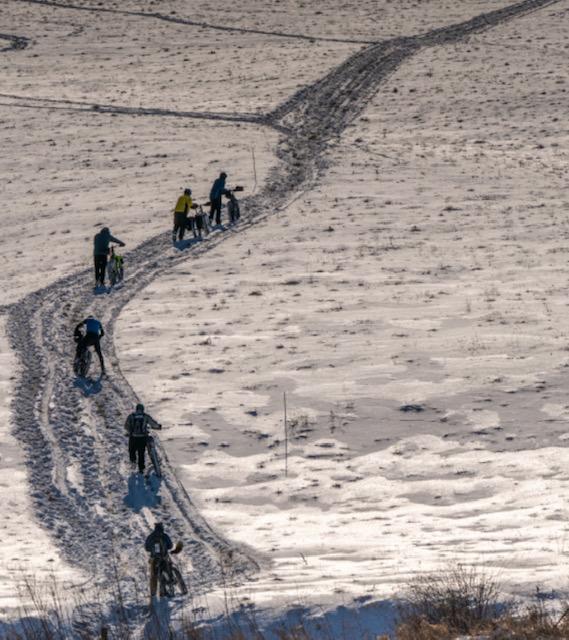So much hike a bike! Photo by Bob Edwards
