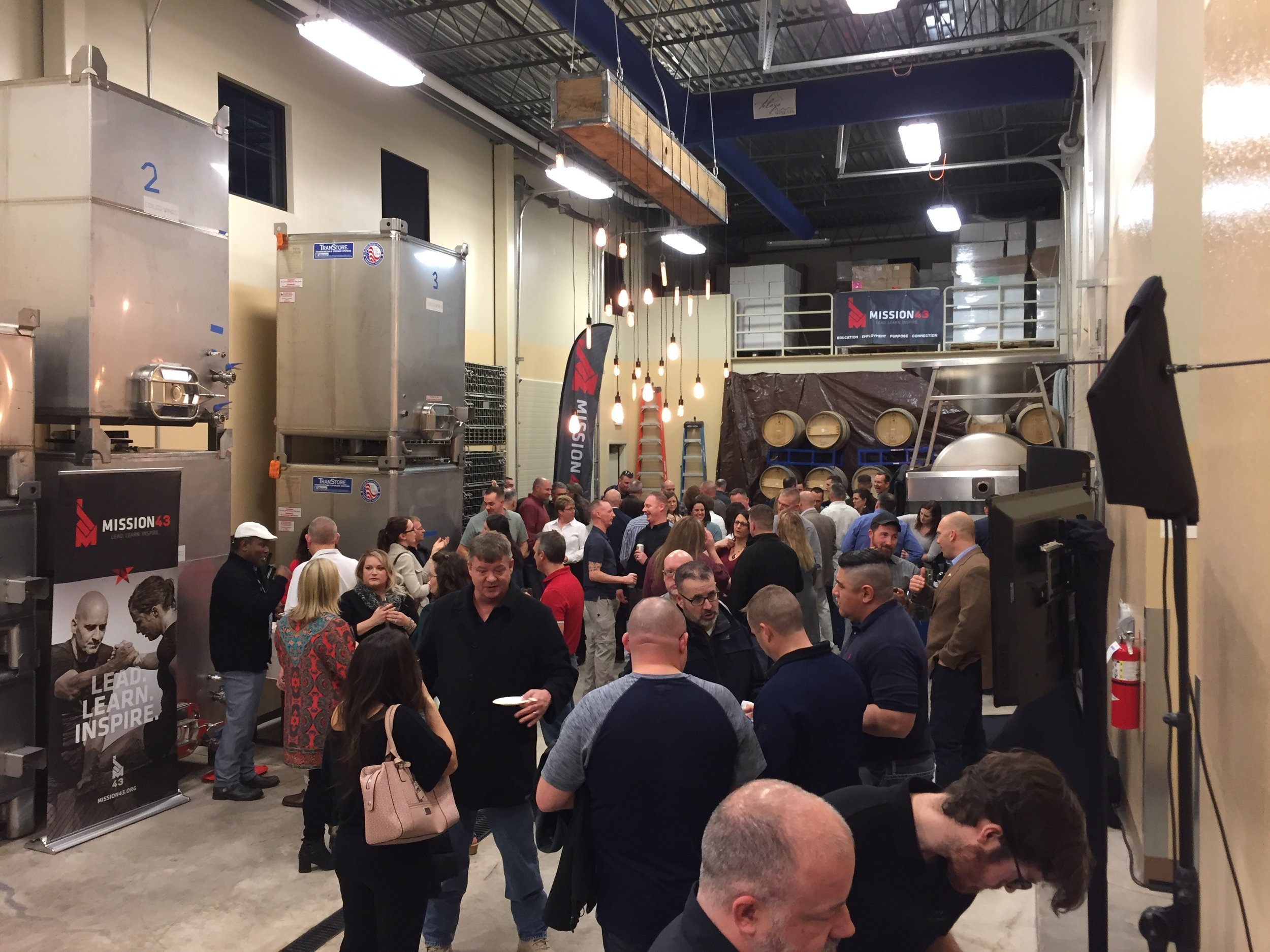 "Idaho National Guard Reception in the Telaya Winery ""Production Room"""