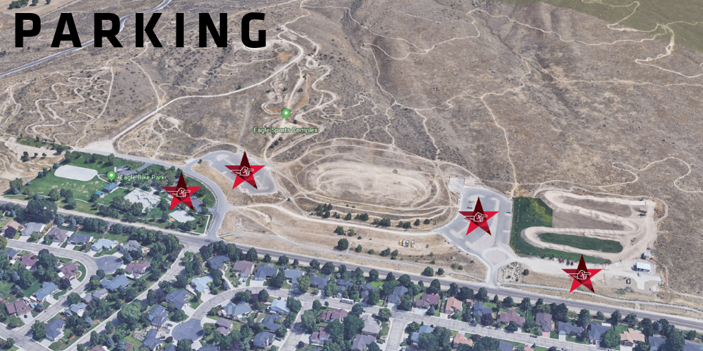 PARKING : There are four lots (marked above) within walking distance of the event area. We are expecting over 500 people for this year's Miles of Remembrance so please be prepared to have to walk up from one of the lower lots.