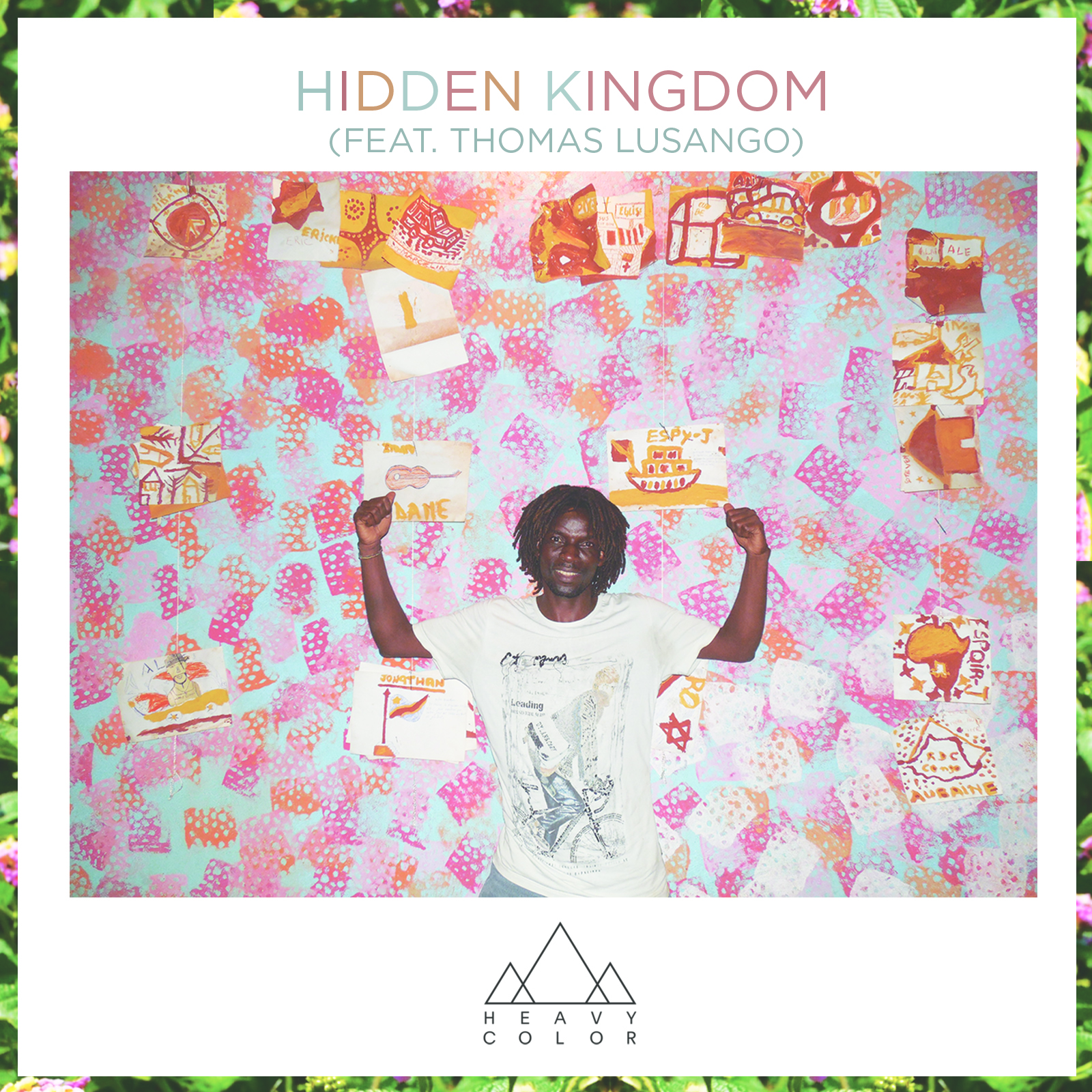 Hidden Kingdom Single available at www.heavycolor.bandcamp.com featuring Thomas Lusango on the cover.