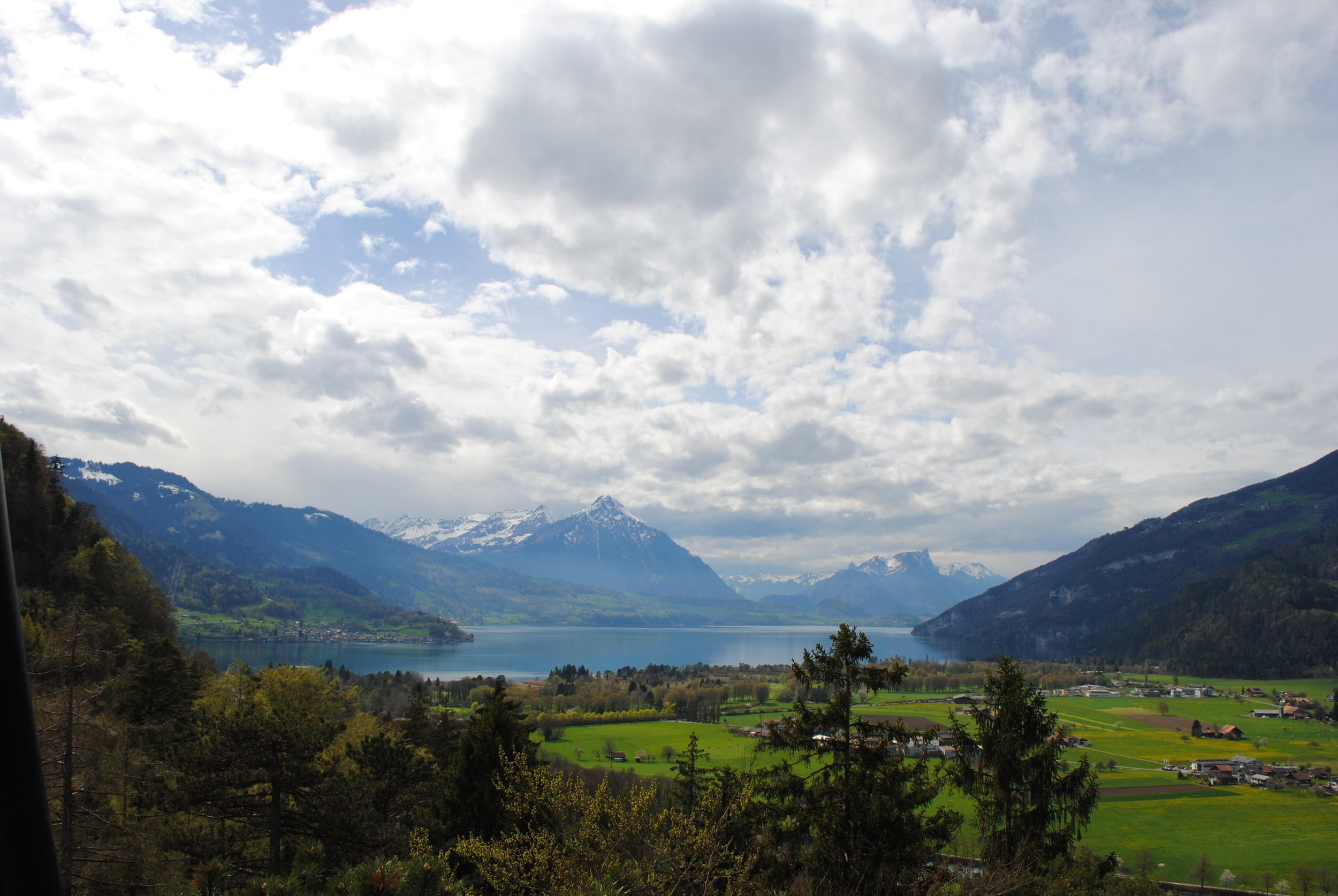 Views of Interlaken from the vantage point