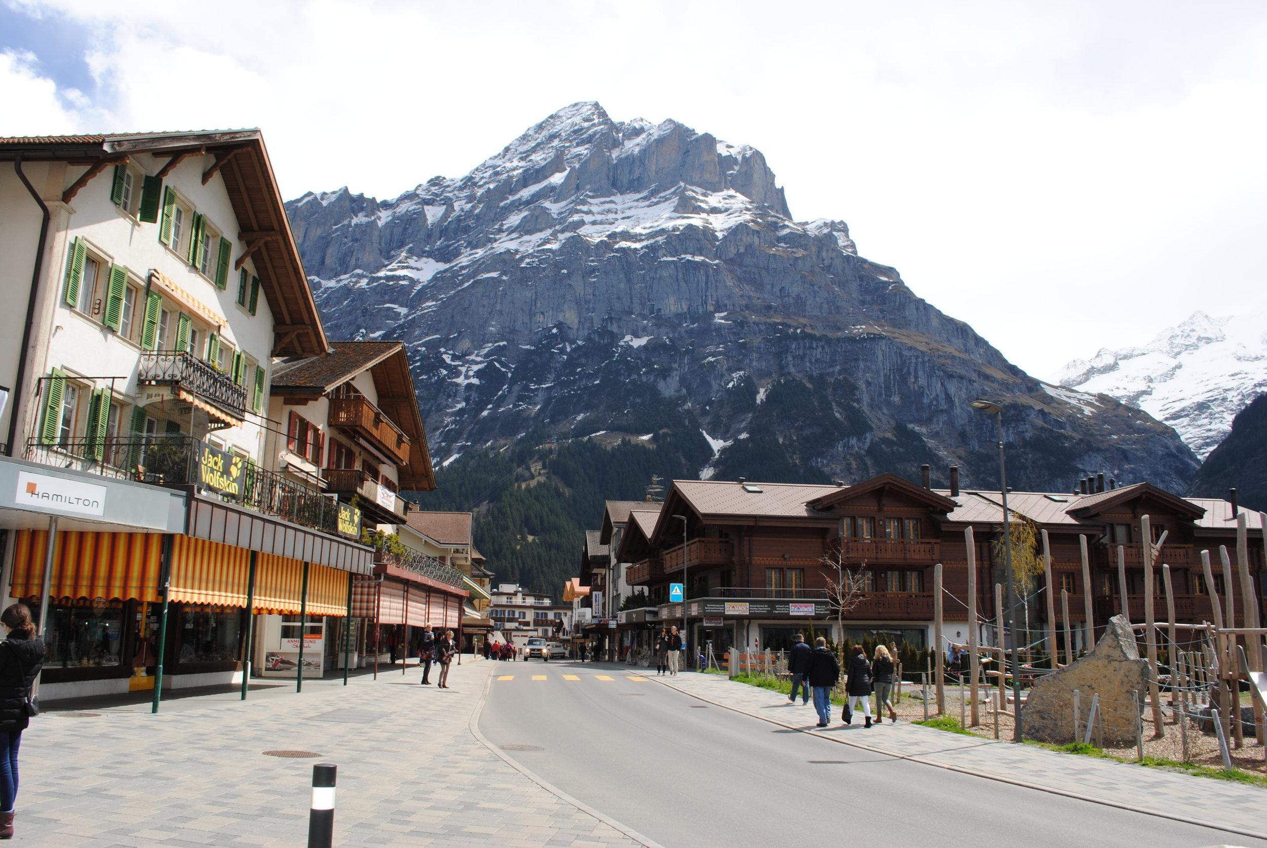 Downtown Grindelwald, Switzerland