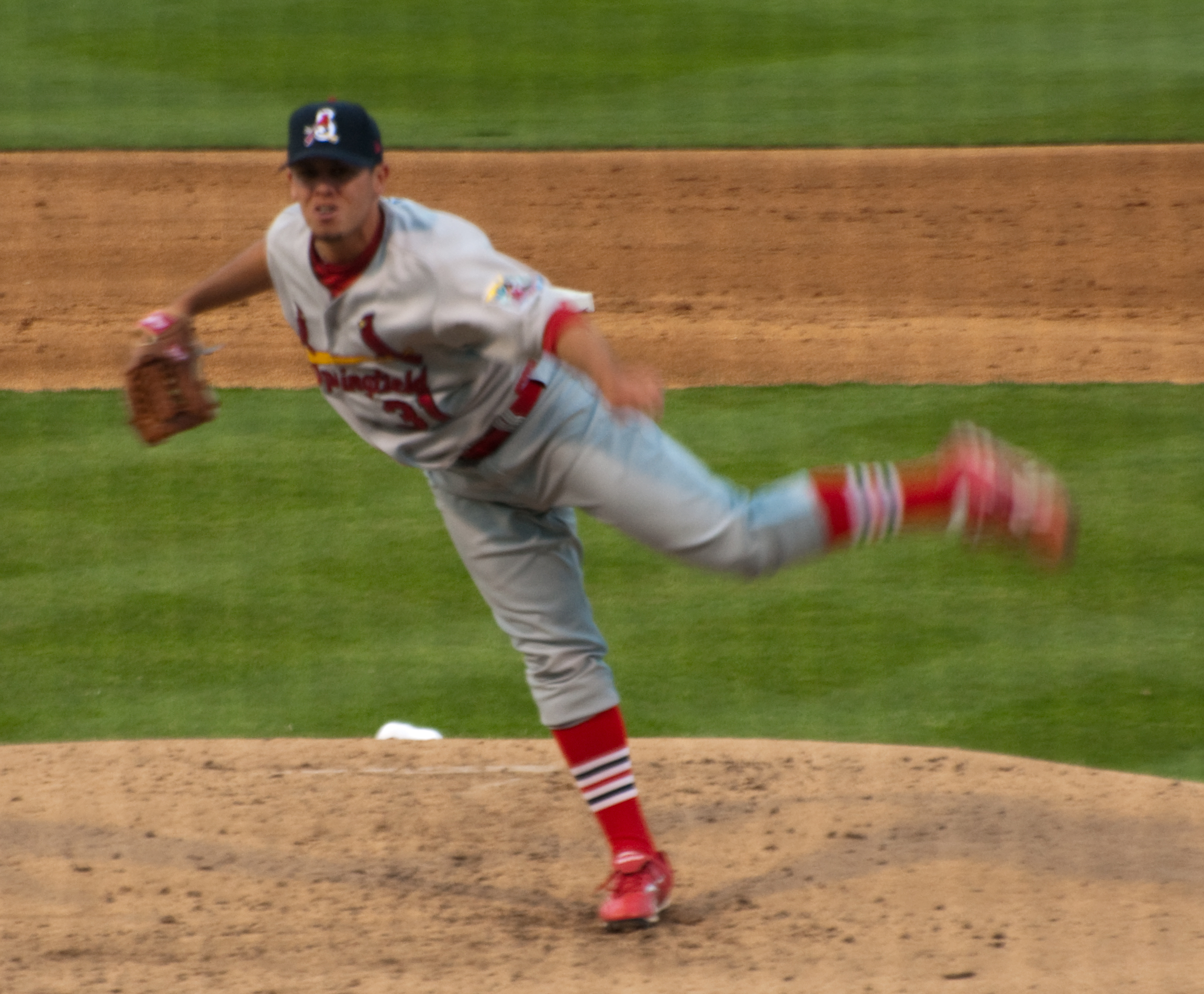 Springfield Cardinals Pitcher throwing a pitch