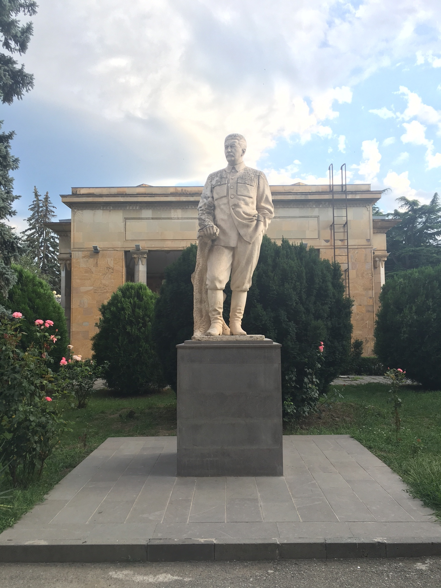 One of the last remaining statues of Stalin.