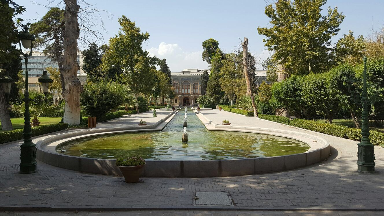 The Palace of  Golestan, which Alex explored