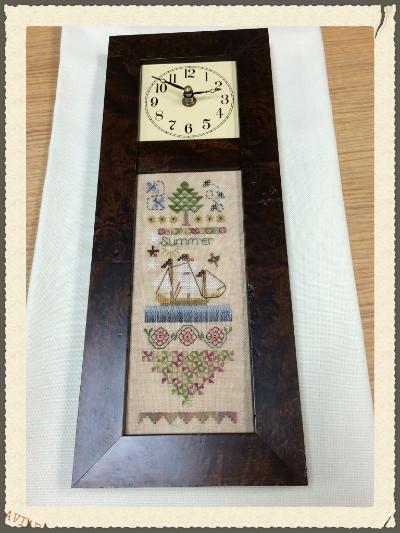 The 4 Seasons_summer- framed in an OCD clock.