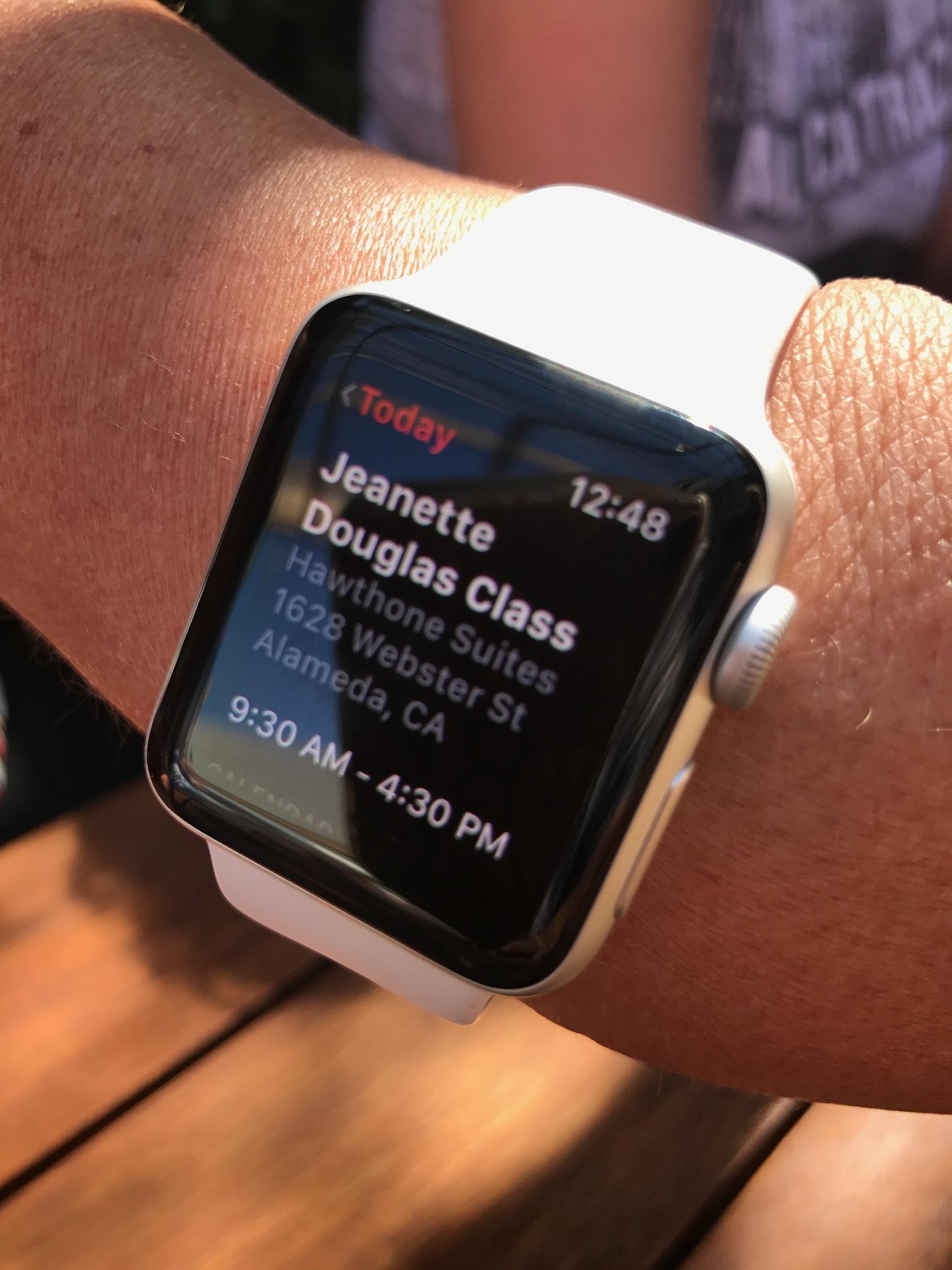 A notification on an attendees watch! Fun!
