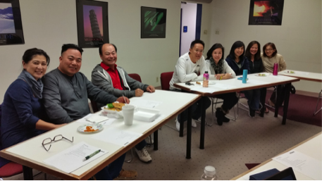 Our first CORE leaders meeting, praying and planning for the new church plant in November 2015