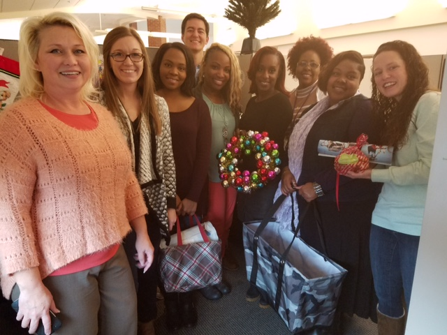 DFCS staff were so surprised and thankful for these Christmas gifts - a small 'thank you' for all that they do for families and children in this community!