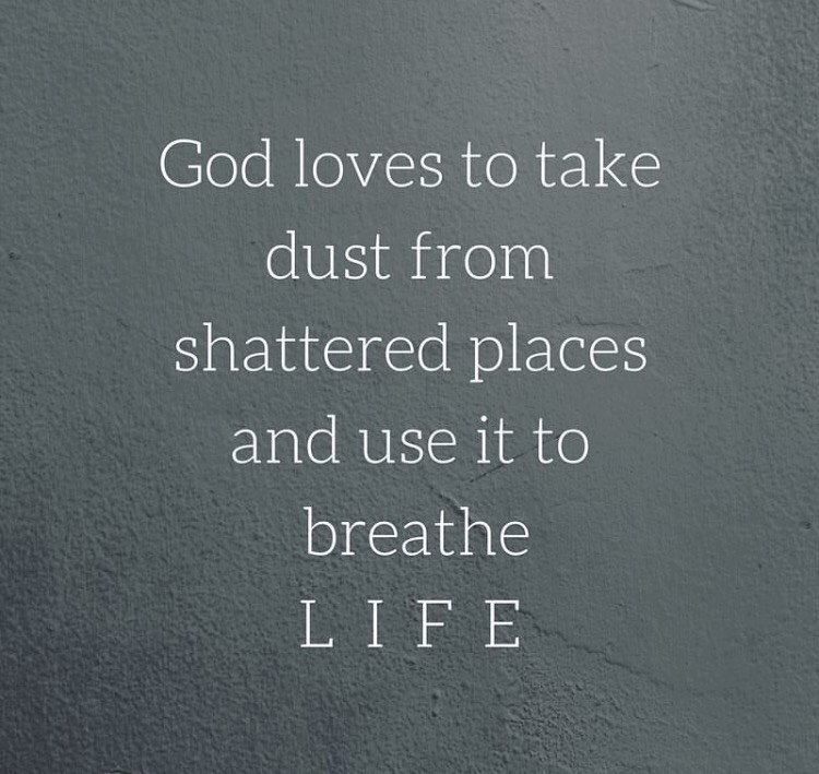 Lysa Terkeurst of Proverbs 31 Ministries gave us a beautiful reminder of the hope in Genesis 2:7 - that our Lord loves to work in and through the dust (and that includes dust from the seemingly shattered pieces of our lives) to reveal His Beauty and make Himself known!