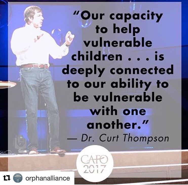 We loved hearing the wisdom of Dr. Curt Thompson who offered insight into how our vulnerability is tied to our ability to connect with others.