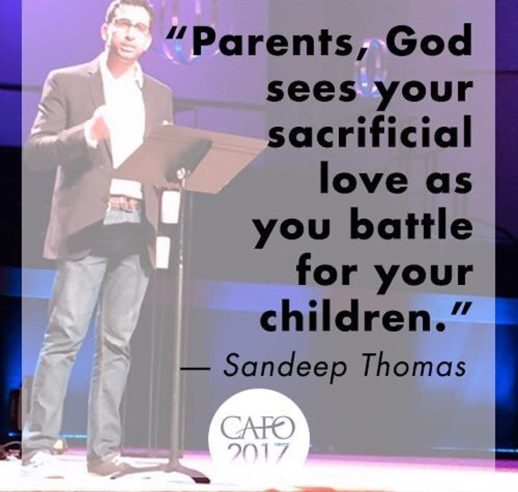 By sharing his own story of adoption and his ultimate salvation through Christ, Sandeep helped us all be encouraged to continue fighting for our children!