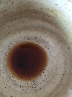 The last drop of a 2008 Shou Puerh I drank while writing this tea information blog post.