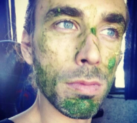 You can use the rest of your avocado as a real food face mask... That's me on a bus trip in Cordoba, Argentina!