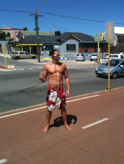 After 6 weeks Muay Thai in Thailand, photo actually taken in Perth after smashing a  smoothie!