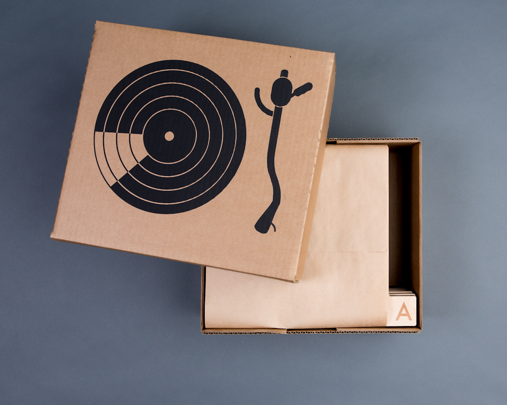 Retired packaging: screen-printed boxes