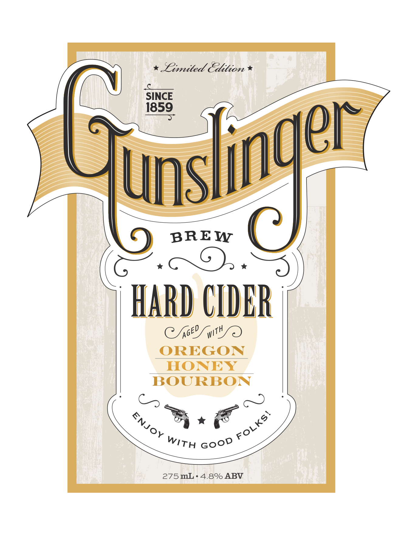 The Gunslinger Brew Label