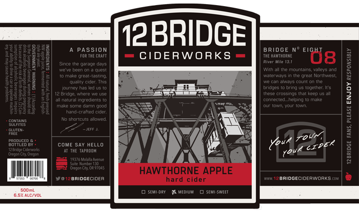 Hawthorne Apple Label