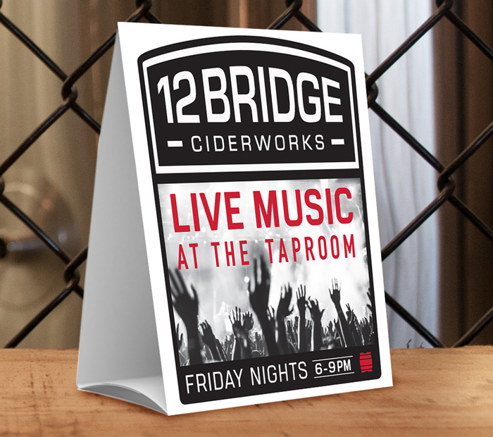 Friday Night Live Music Table Tents
