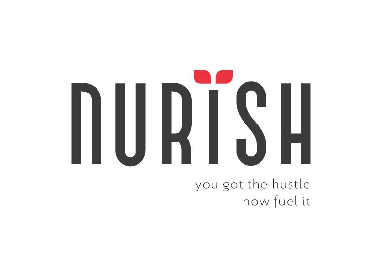 Nurish logo and tagline