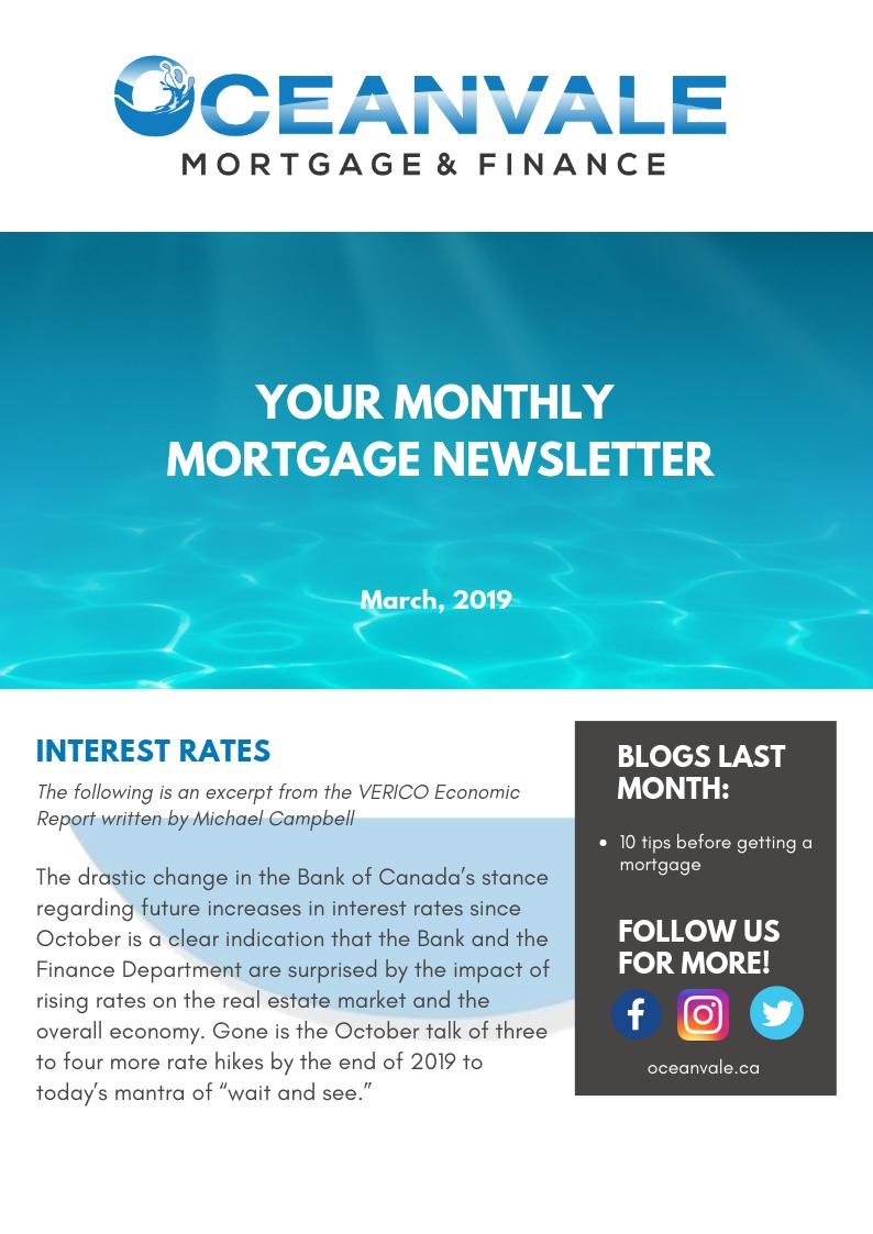 March 2019 Newsletter - 1