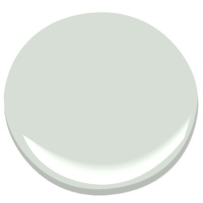 Silver Crest by Benjamin Moore for the master bathroom wall color.