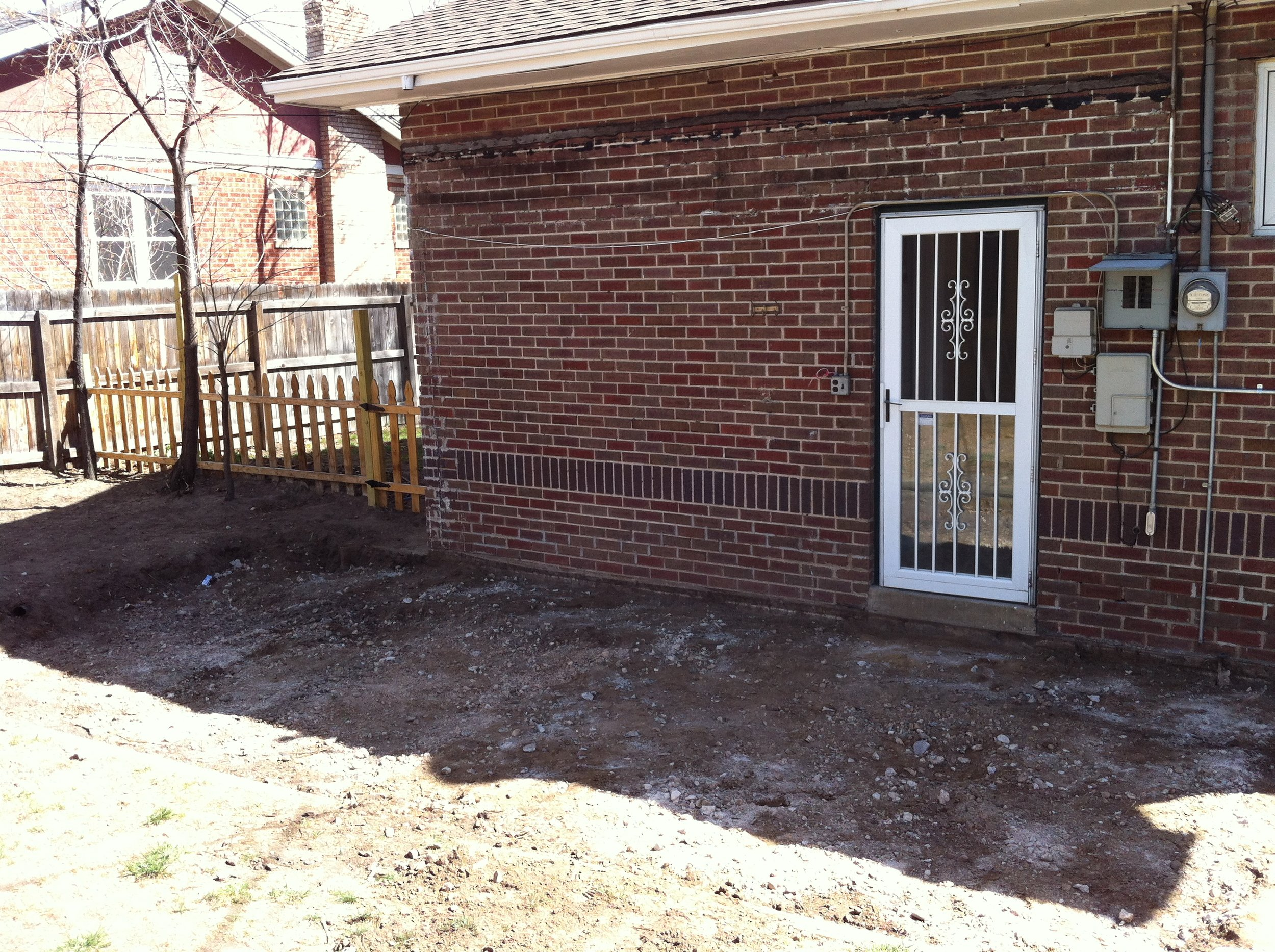We removed the existing porch to begin the renovation