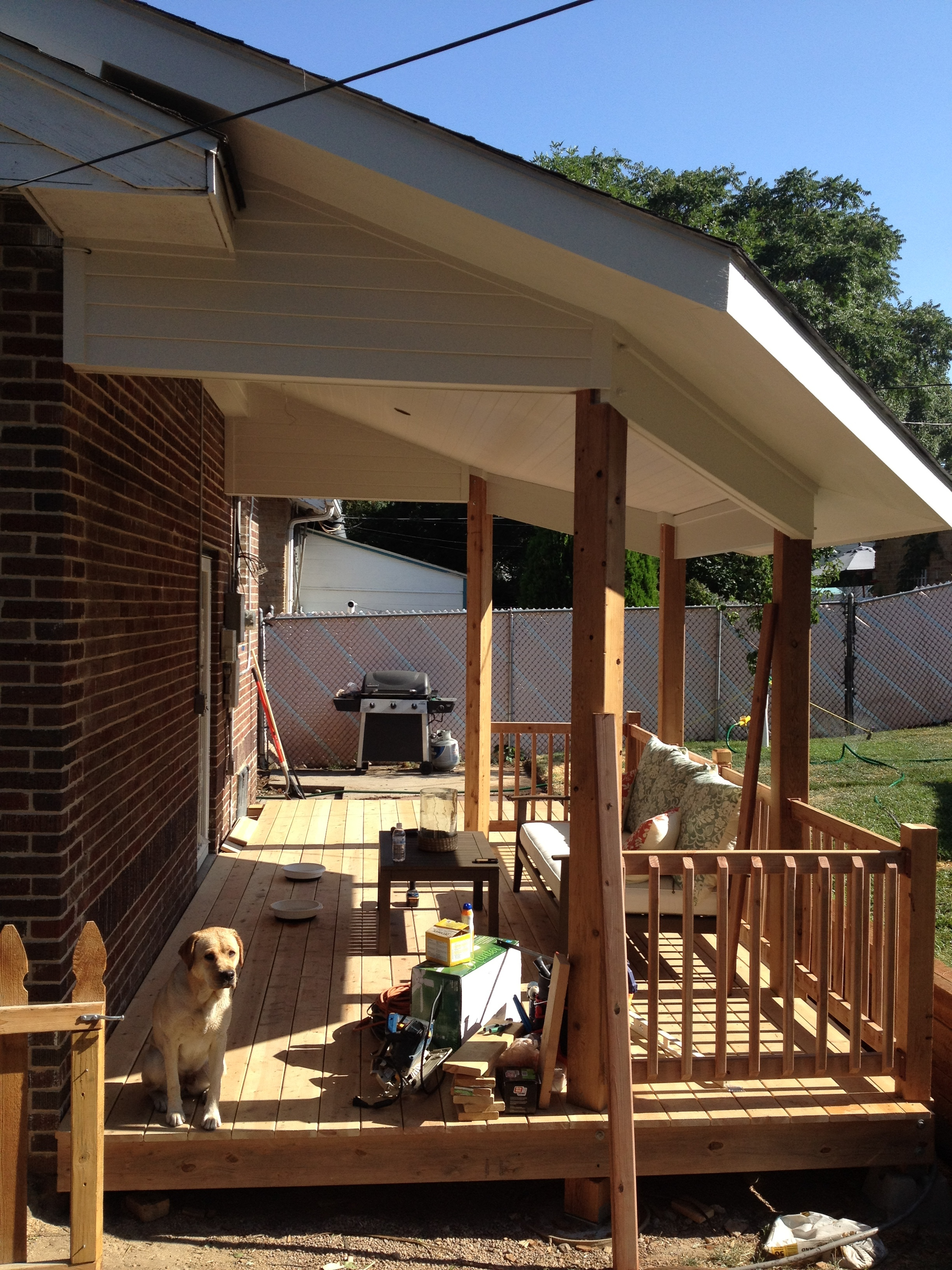 The deck is in the middle of being built by my husband.