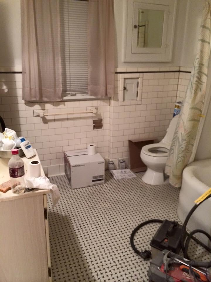 Before image of the original bathroom