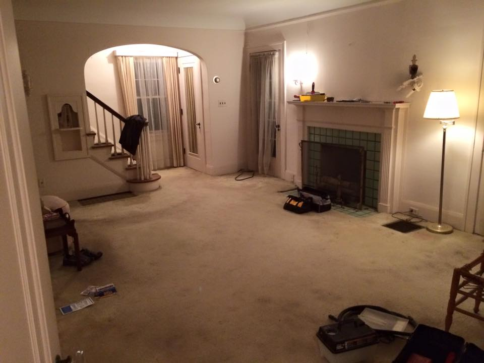 Again, carpet, curtains & paint removed