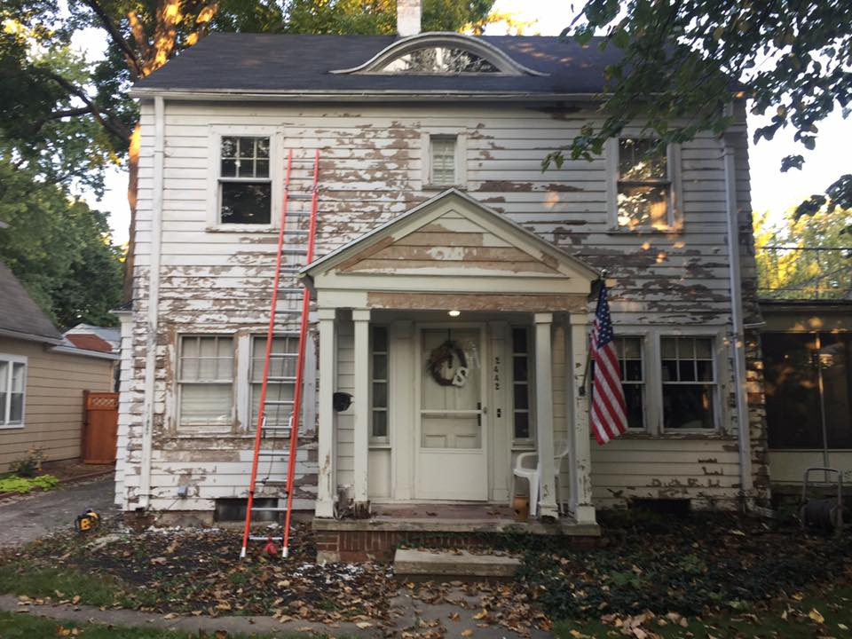 1920's colonial preparing for a paint job