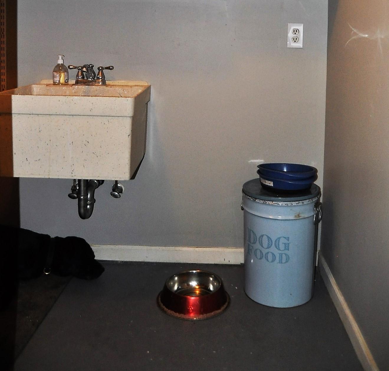 Utility room mid-renovation