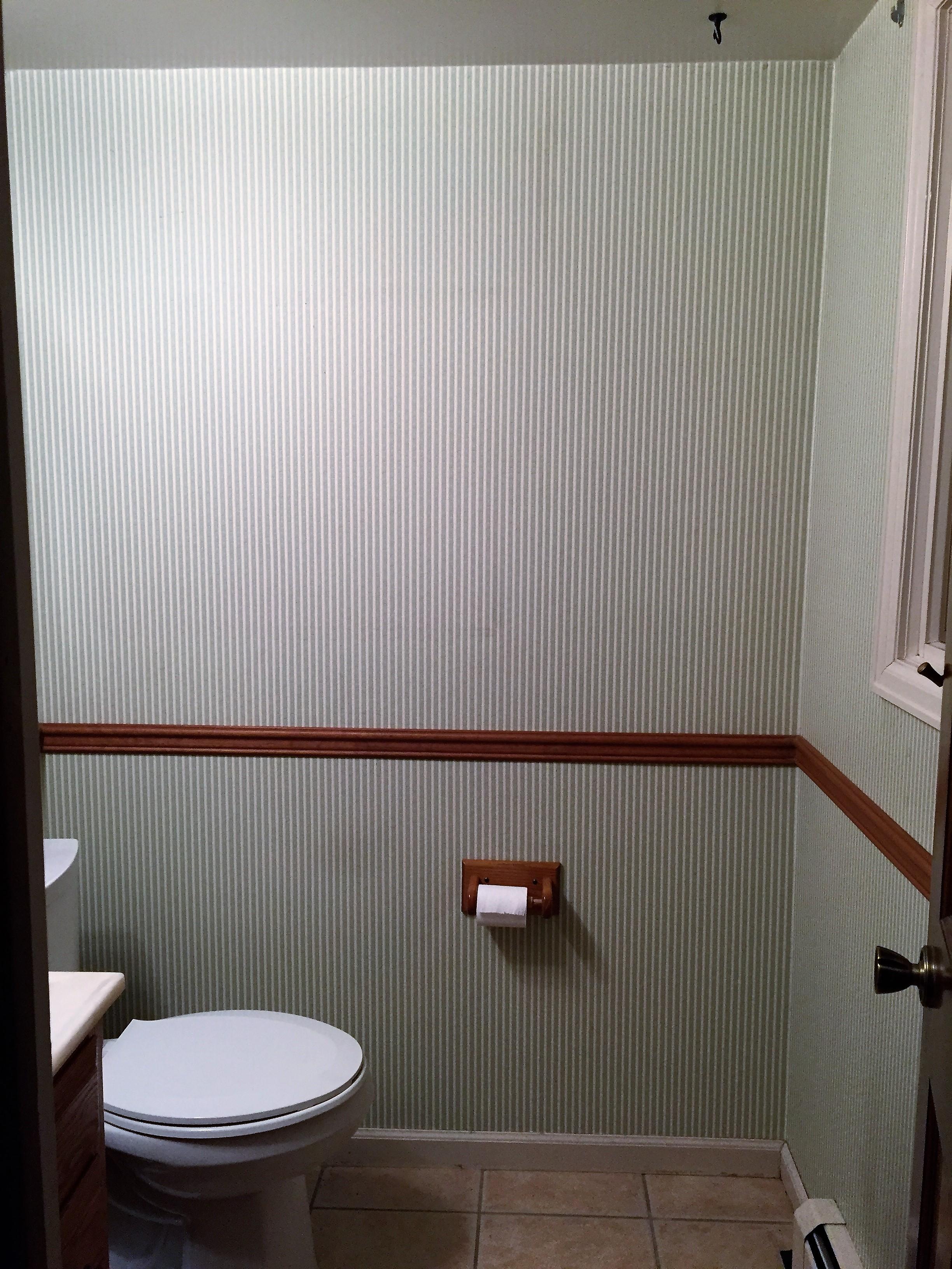 Before image of the half bathroom