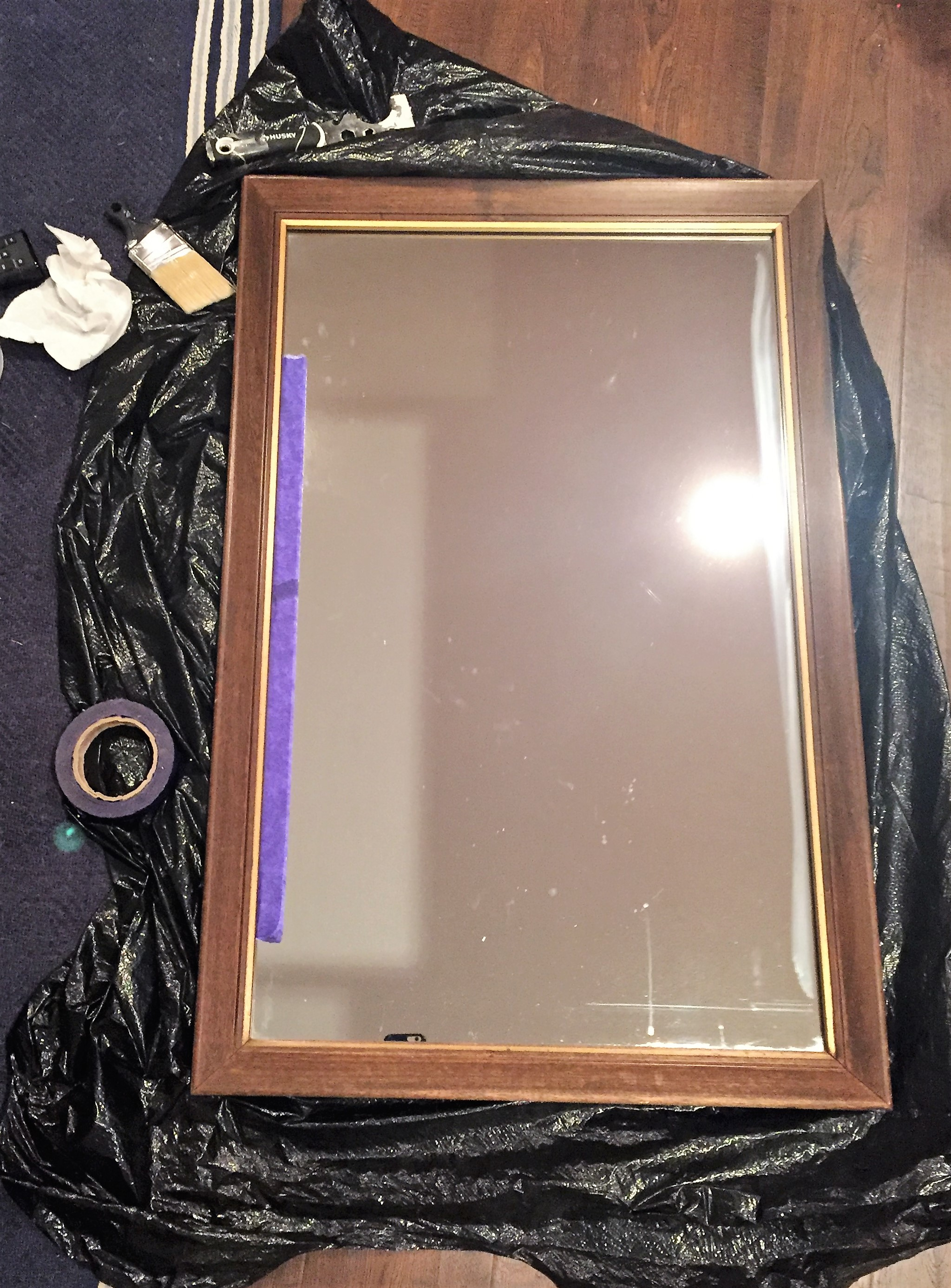 DIY project painting the current mirror