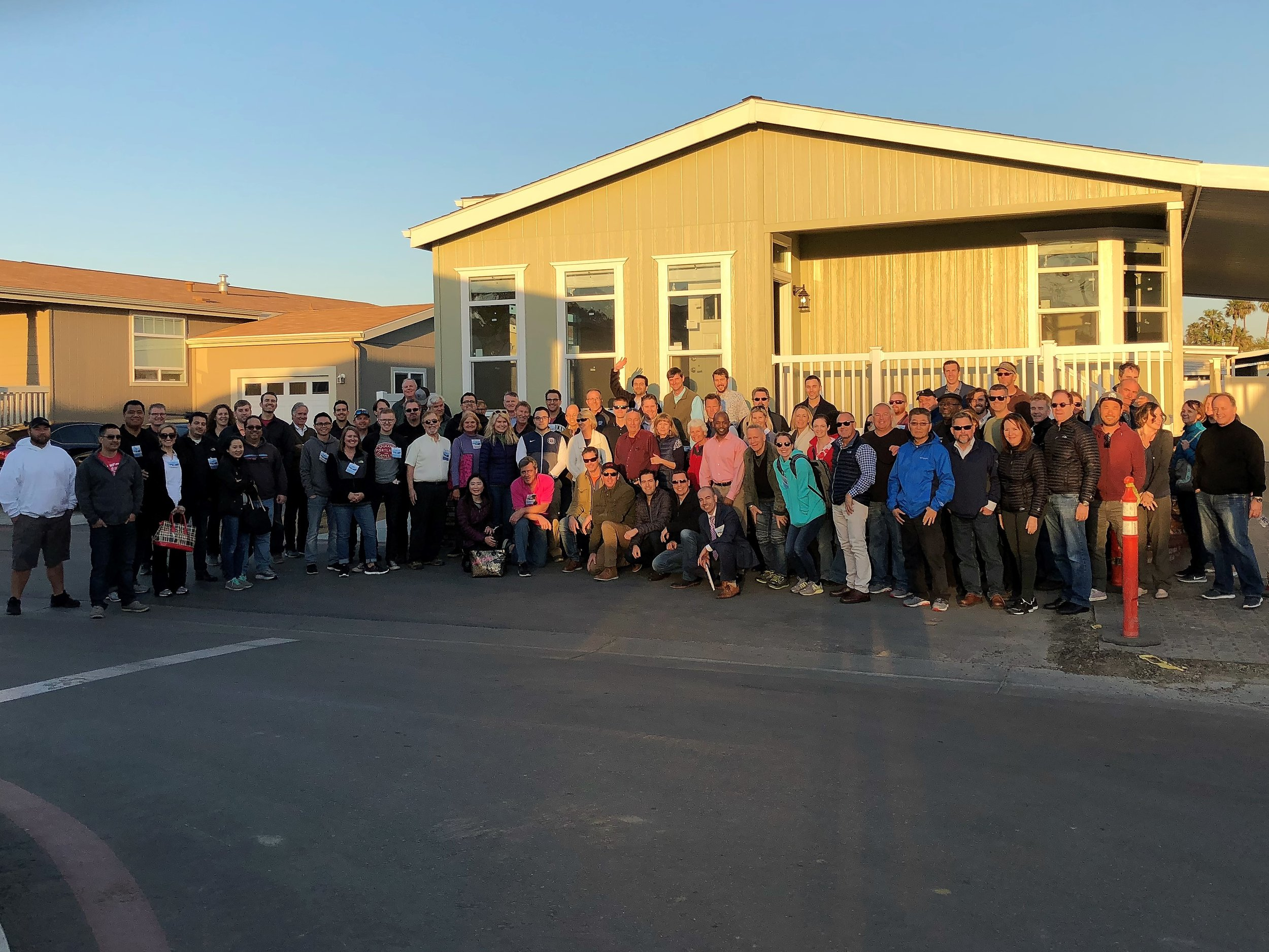 Class Photo! This was taken in front of a mobile home installation at a Huntington Beach Park.