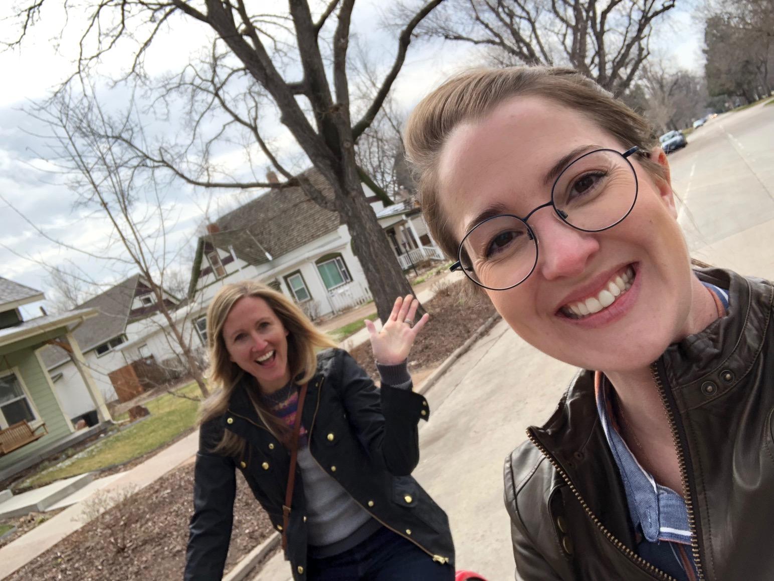 Biking around with my girl, Jamie.