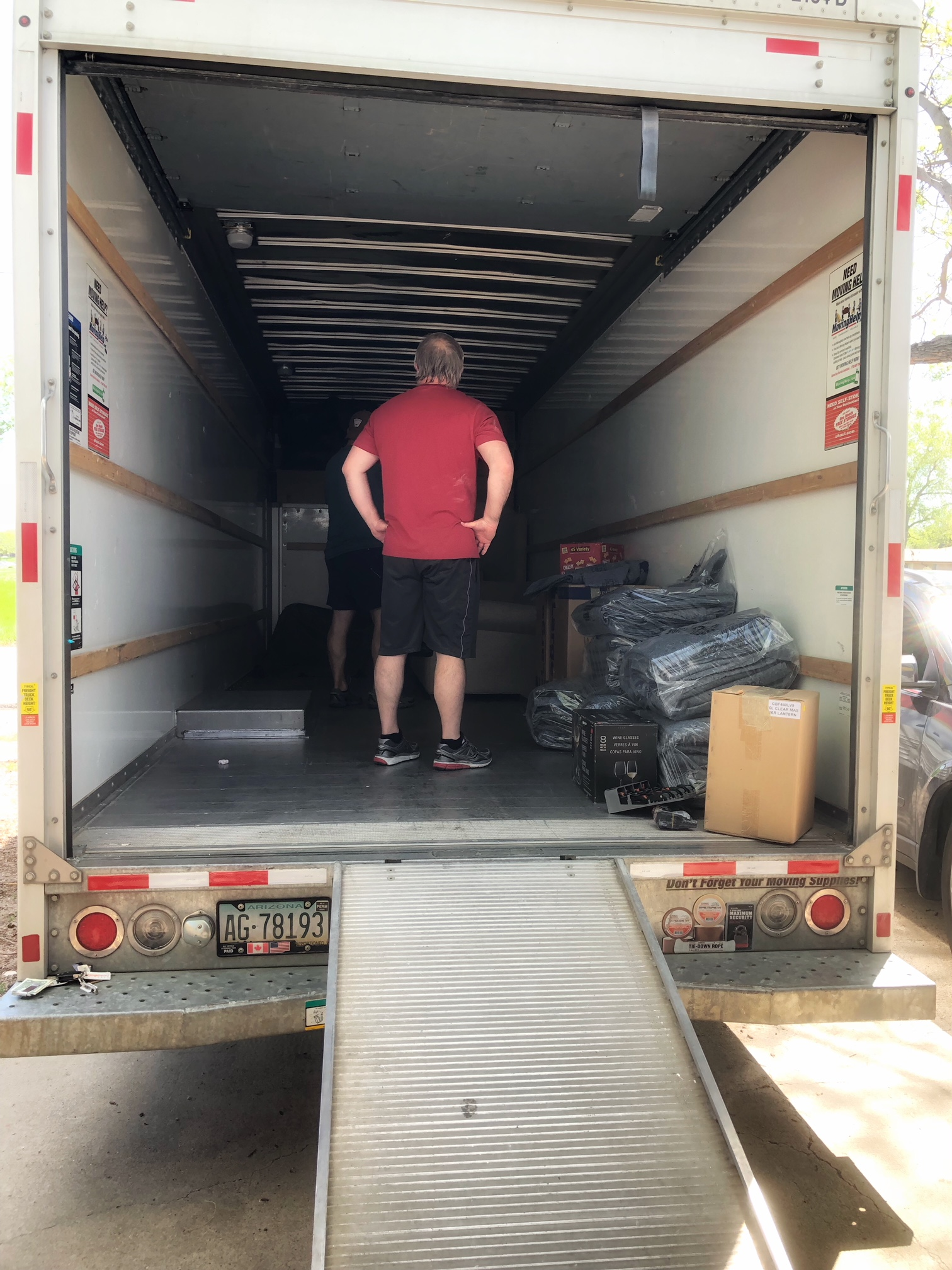 The truck is ready for boxes!