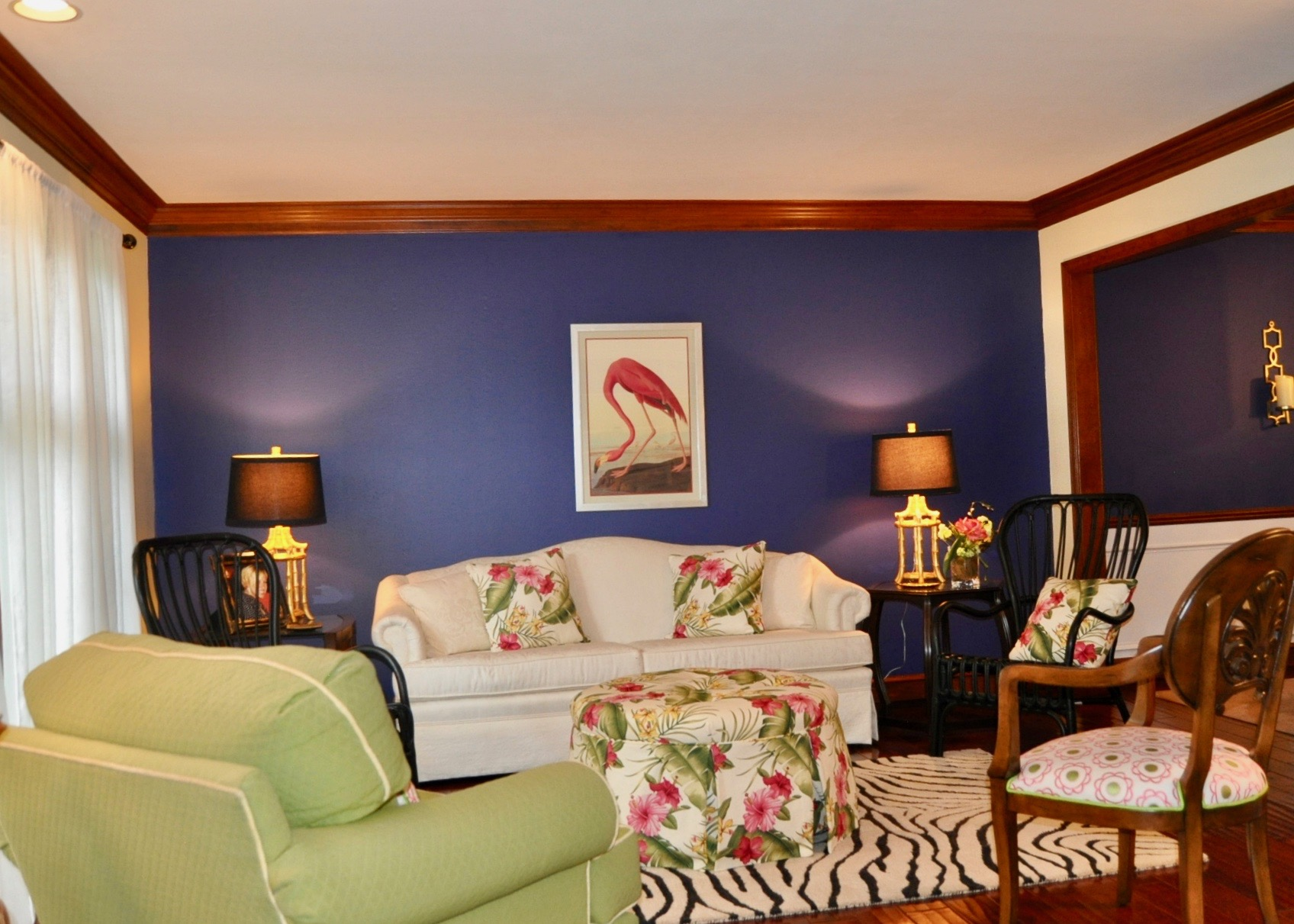 Cohesive color palette throughout the home