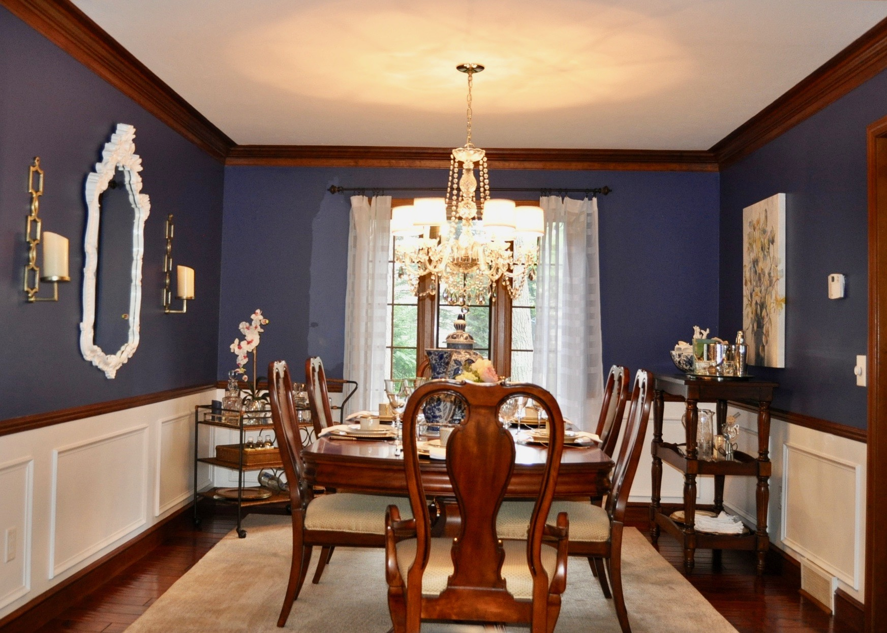 Warm and inviting dining room