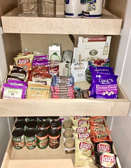 Snack drawer for airbnb guests