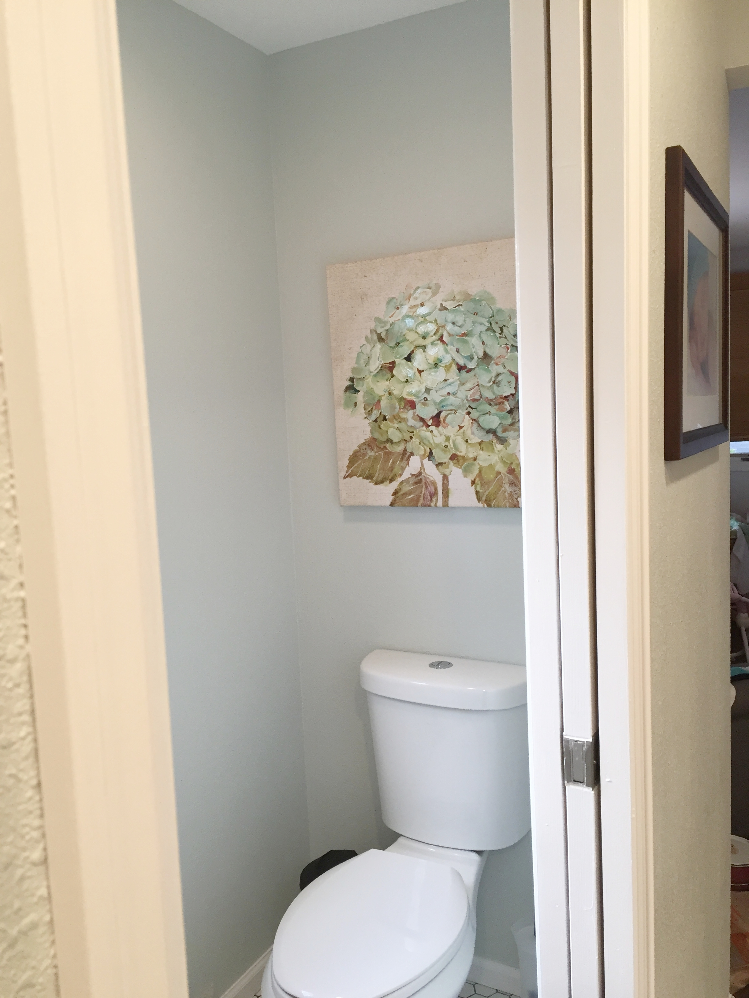 We created a private toilet room in our master bathroom.