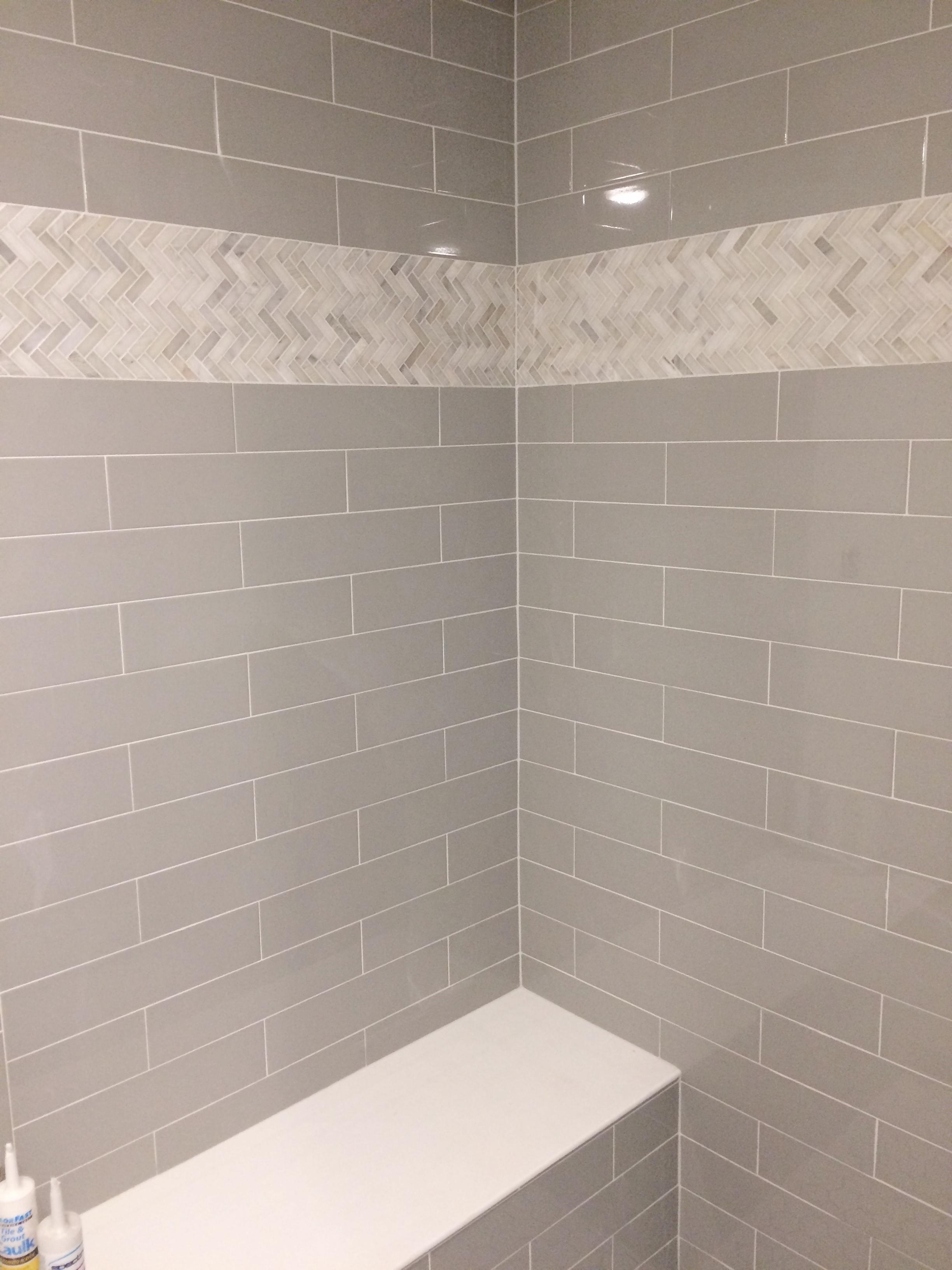 Master bathroom walk in shower.