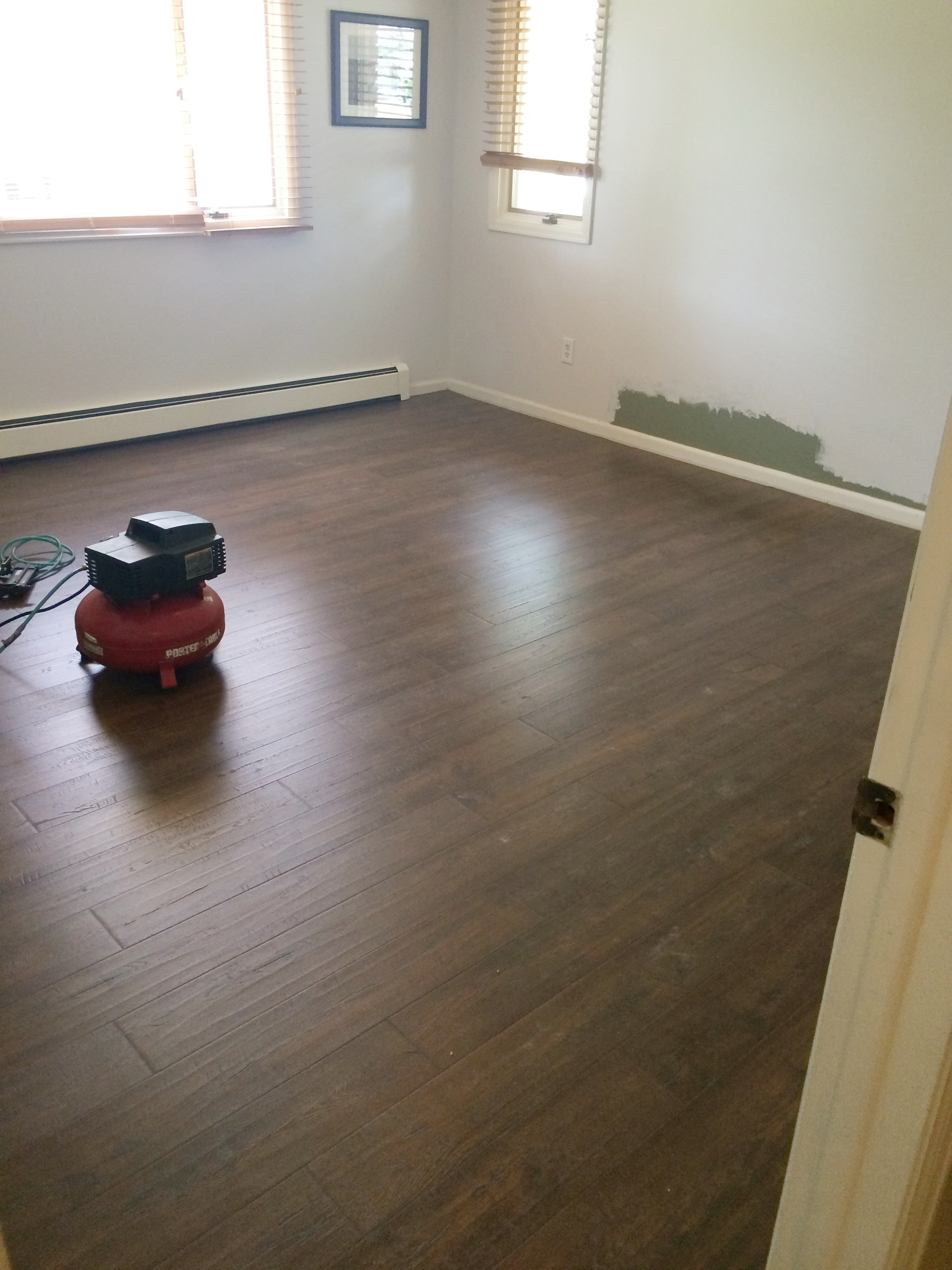 New floors in the master bedroom