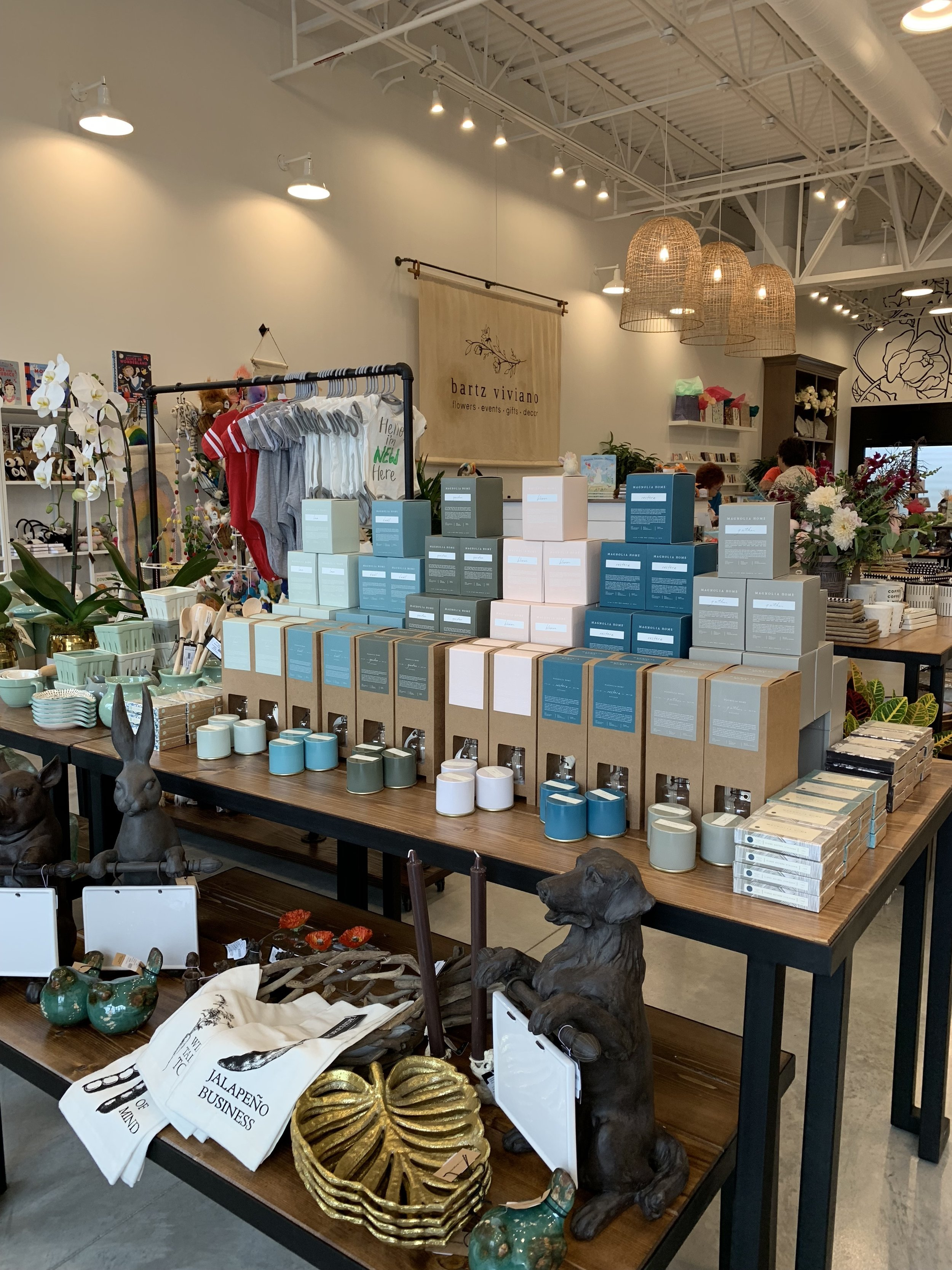 Magnolia brand candles at Bartz Viviano