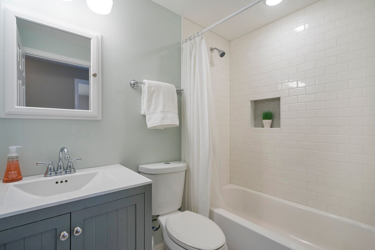 Accent house guest bathroom renovation