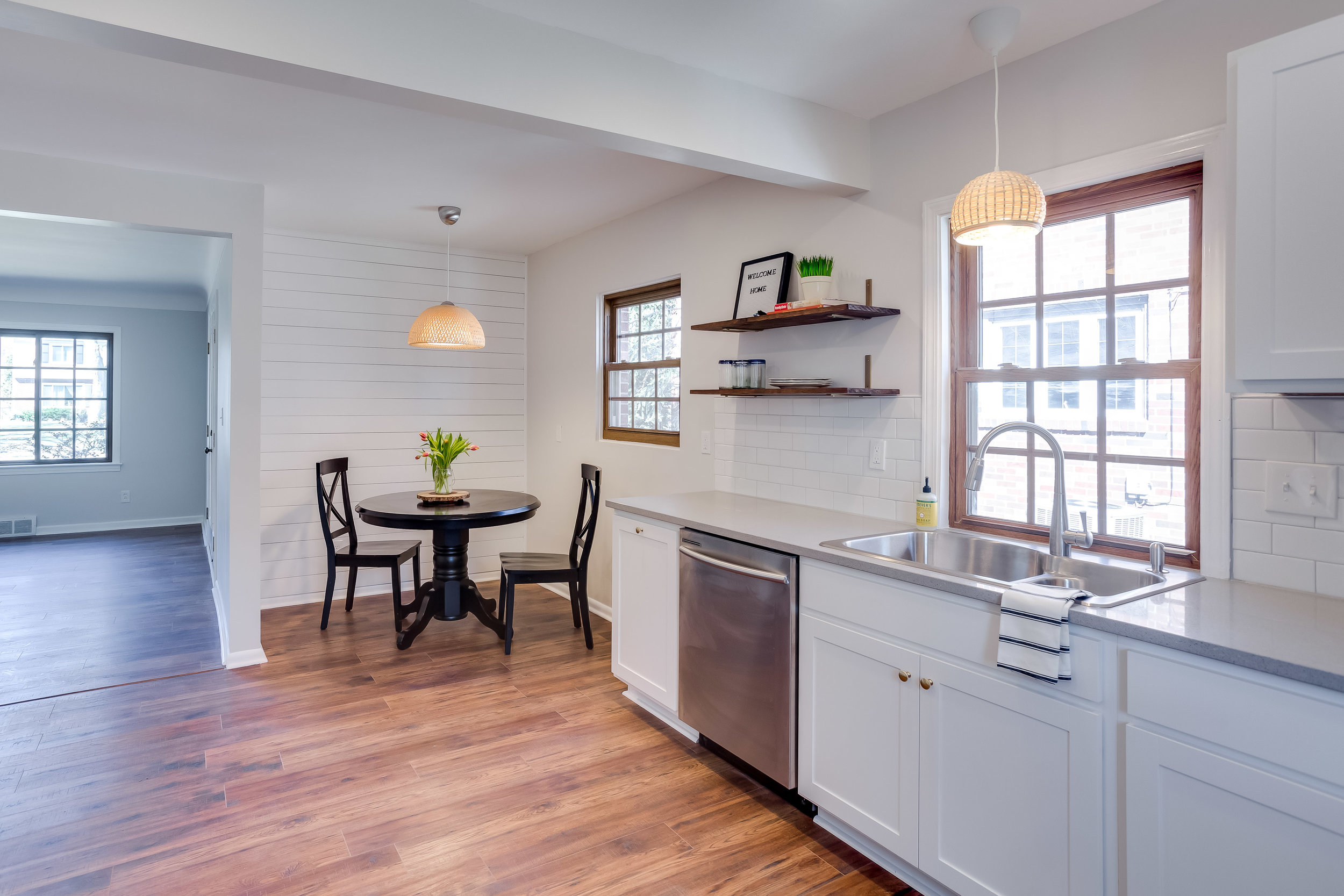 After, the tiny kitchen was converted into a functional breakfast nook.