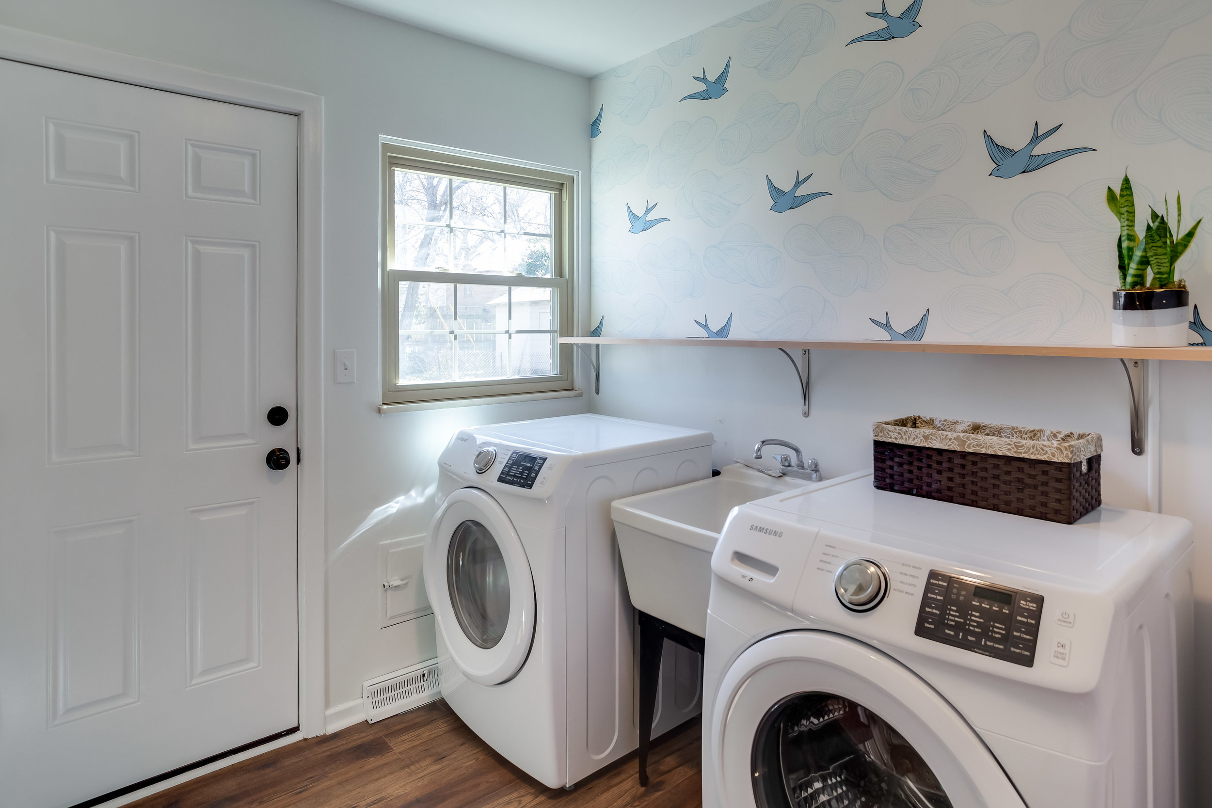 After, the laundry room is clean, functional and pleasing to the eye.